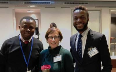 (l-r) Dr Tajudeen, Prof. Edwards, Dylan Kawende at Chatham House