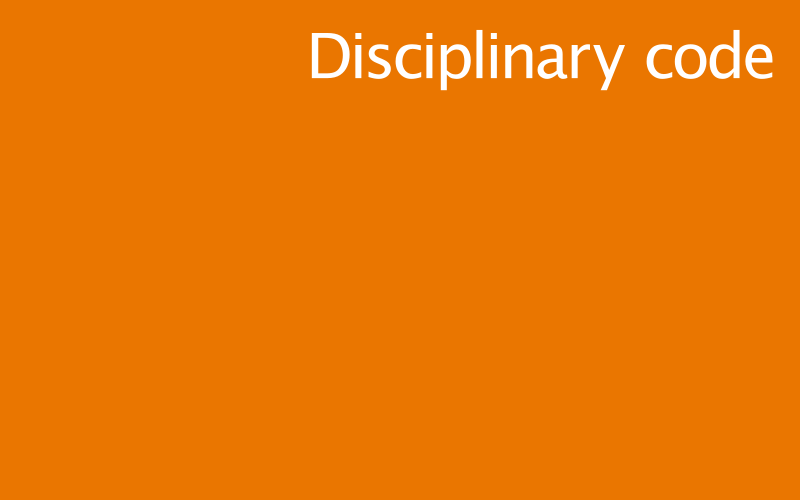 Link to disciplinary code