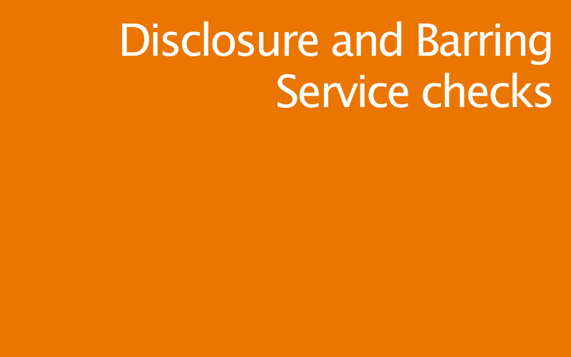 Link to disclosure and barring service policy