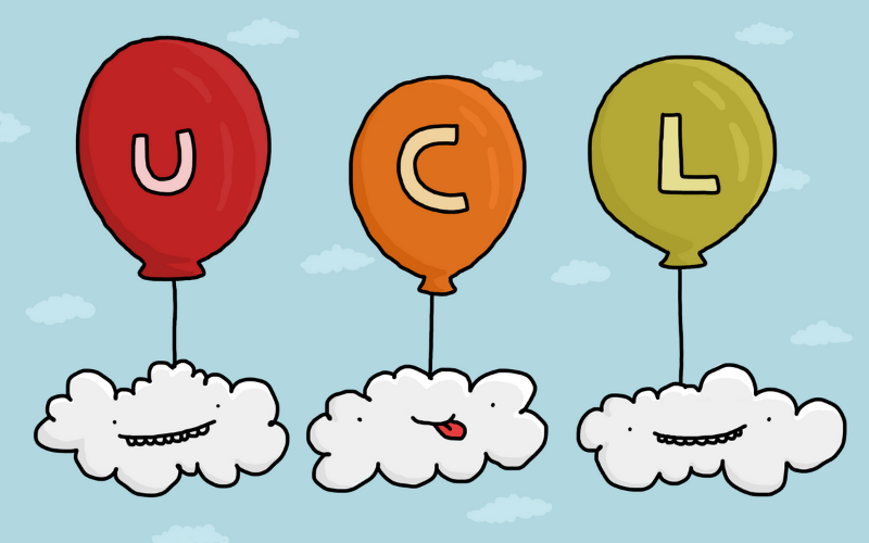 Illustration of UCL balloons and clouds