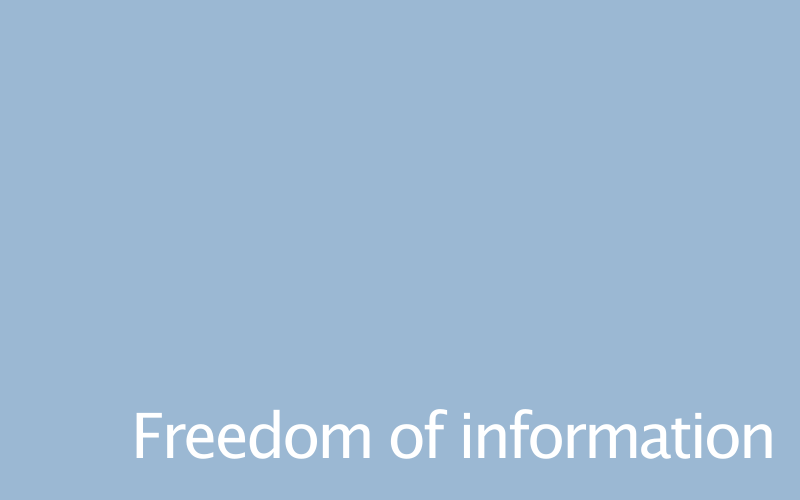 Link to freedom of information policy