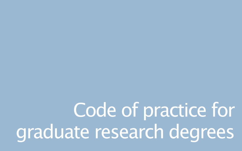 Link to graduate code of conduct
