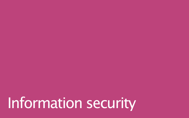 Link to information security policy