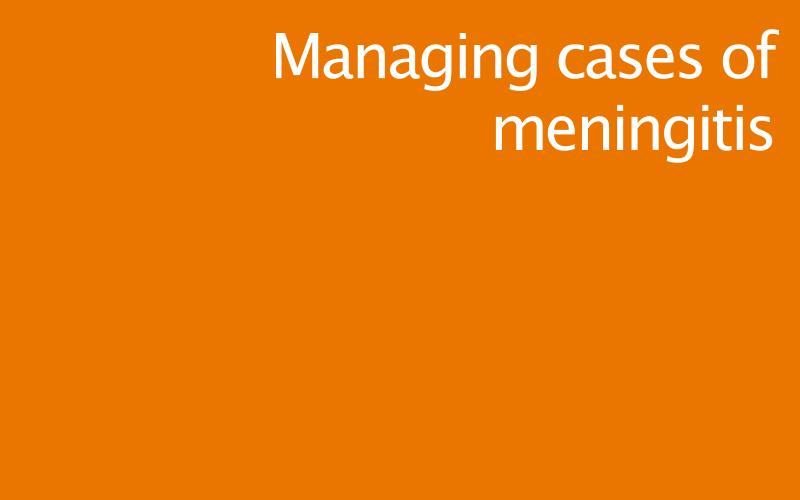 Link to managing cases of meningitis