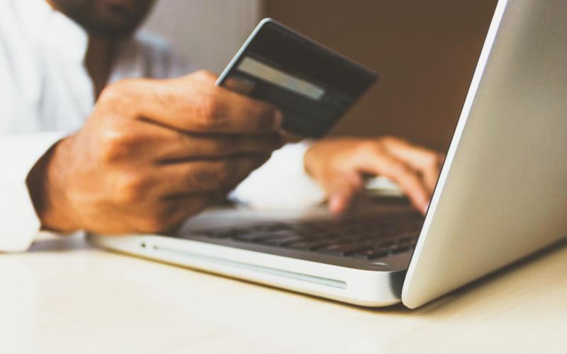 Person using a debit card