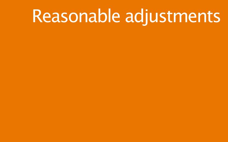 Link to reasonable adjustments