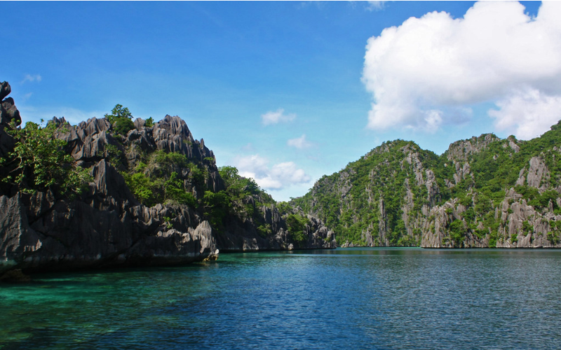 Limestone cliffs in the Philipines