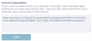 Q: Can I manually subscribe to exam timetable in my Calendar? A: Yes. Most Calendars support manual internet calendar subscription.  For example in O365, go to Calendar view, Add Calendar, Subscribe from Web – copy the web link from the exam timetable Sub