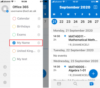 Outlook on mobile device will look like this (in Agenda view):