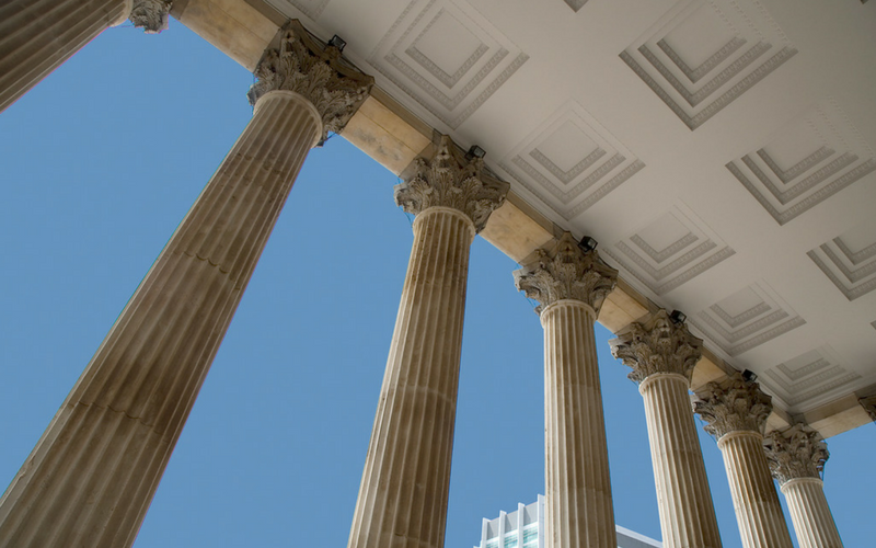 Columns on the UCL Portico