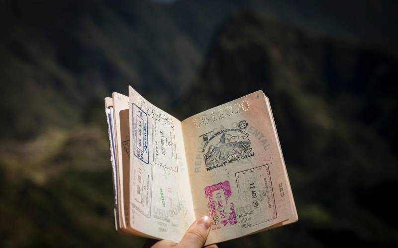 Someone holding a passport