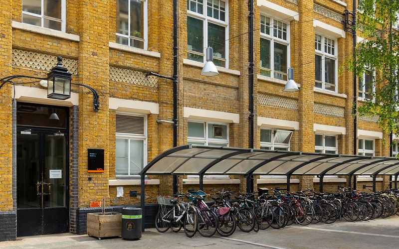 Photograph of cycle parking