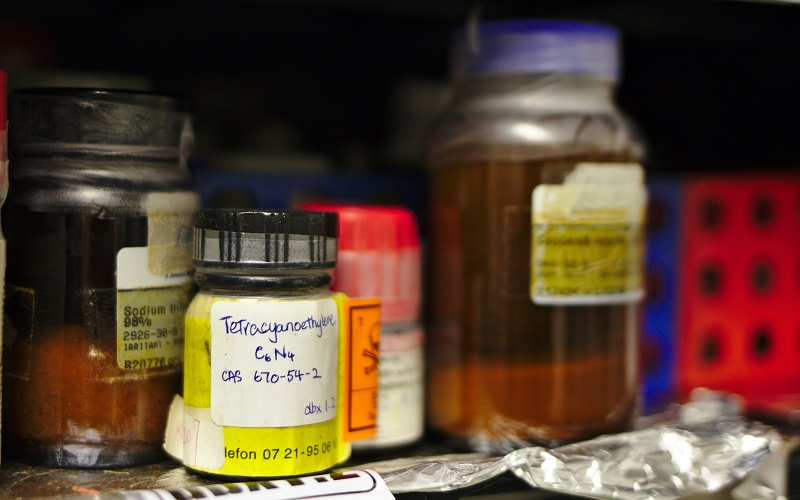 Photograph of chemicals