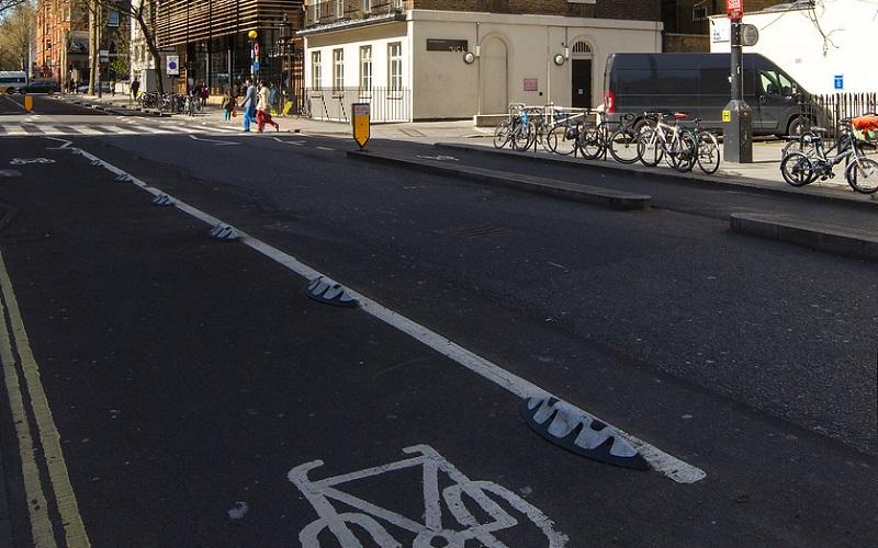 Photograph of the Tavistock Cycle Lane
