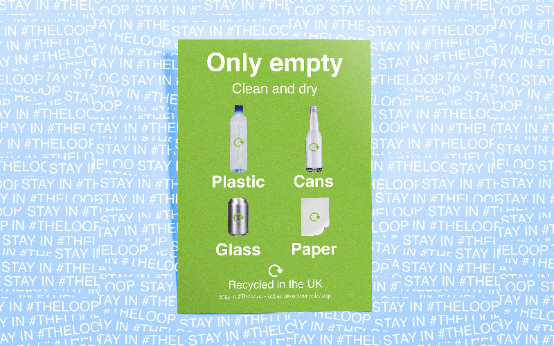 Image of recycling signage