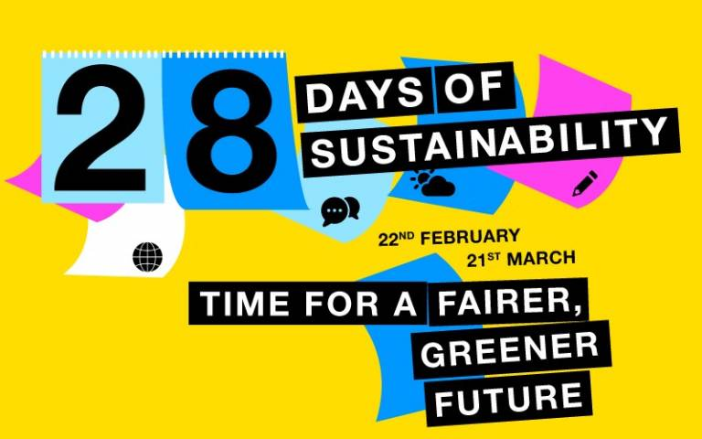 28 Days logo, a calendar on yellow background