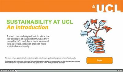 An Introduction to Sustainability at UCL