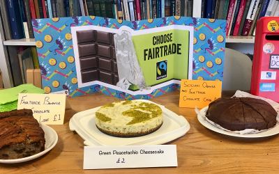 3 cakes made with Fairtrade ingredients