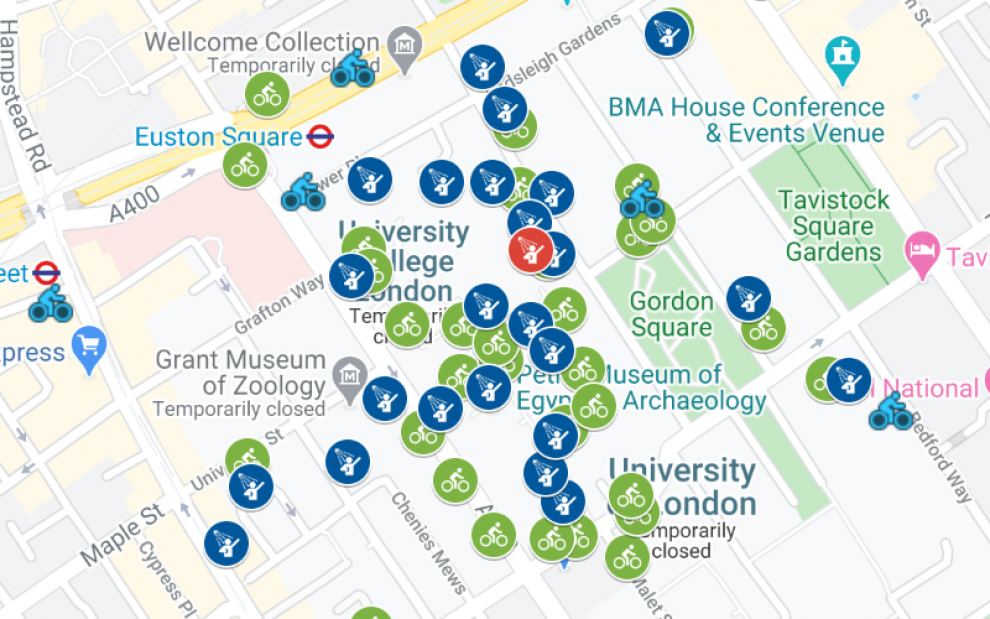 Image of Cycle Parking Map