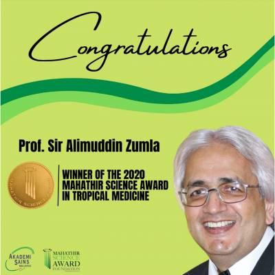 Ali Zumla MSAF Award Winner photo