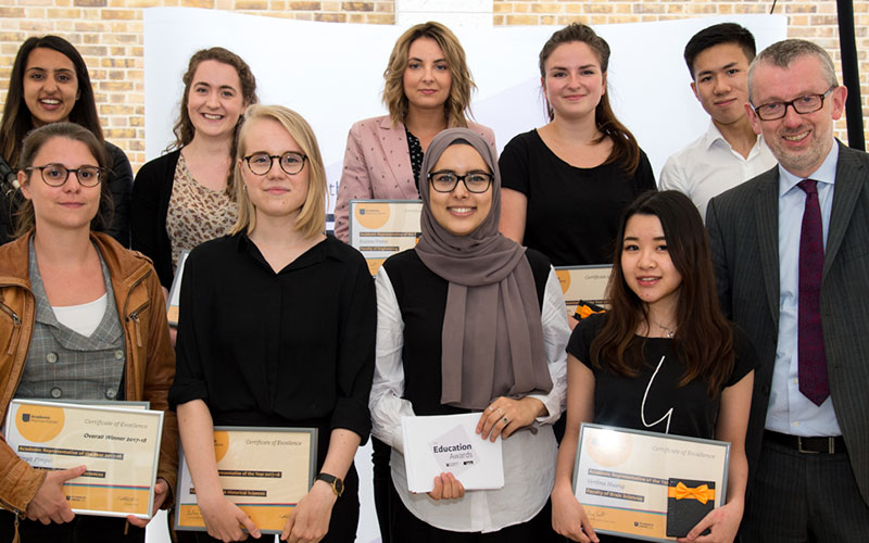 Winners collect their awards at the Education Awards 2018 at UCL