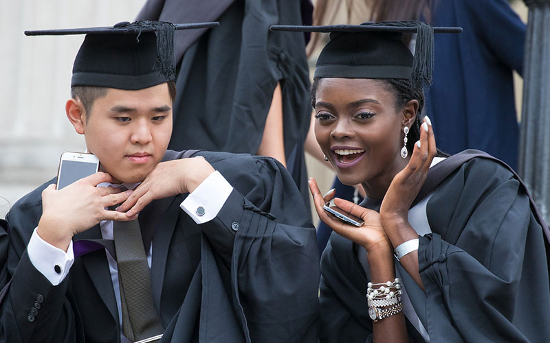 Students on graduation day at UCL