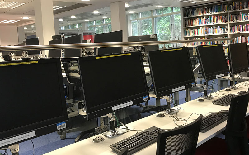 computers in the library
