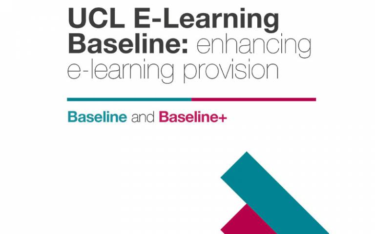 UCL E-Learning baseline front cover