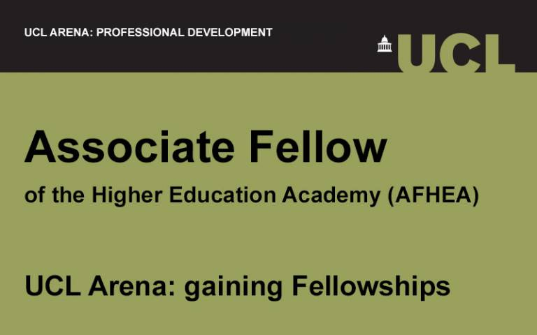 UCL Arena event image for Associate Fellow of the Higher Education Academy (HEA)