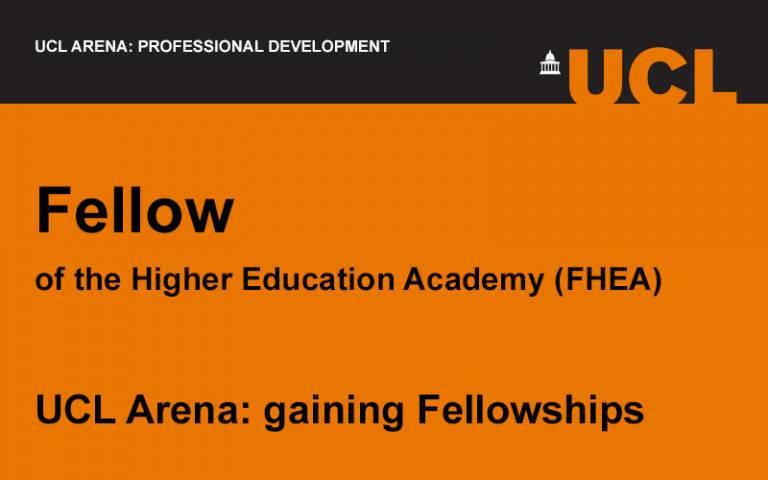 UCL Arena event image for Fellow of the Higher Education Academy (HEA)