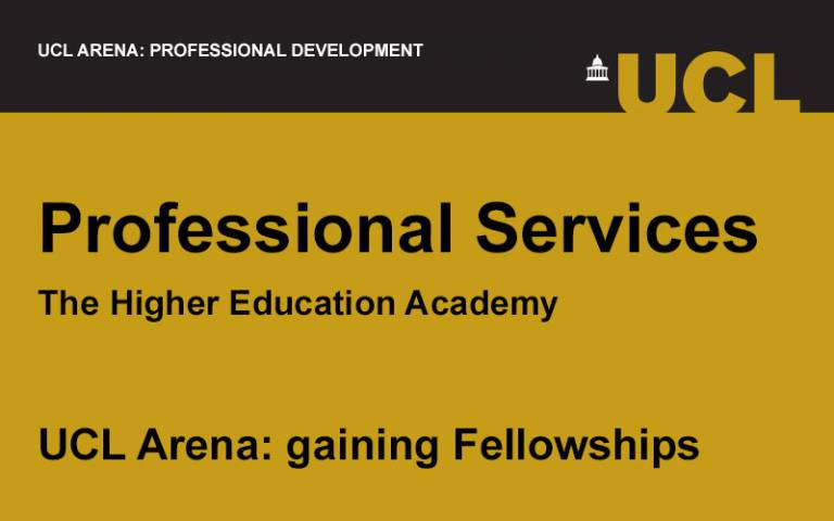 UCL Arena event image for Fellow of the Higher Education Academy (HEA) professional services
