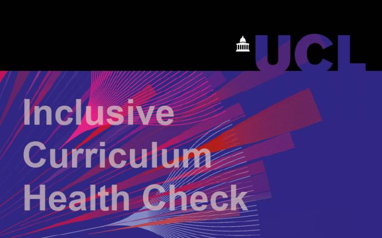 The front cover of the UCL Inclusive Curriculum Healthcheck document