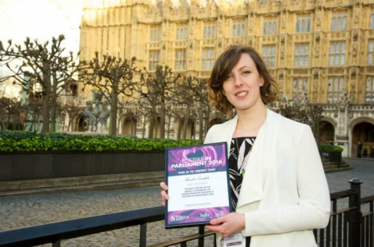 Amanda Campbell: Posters in Parliament winner