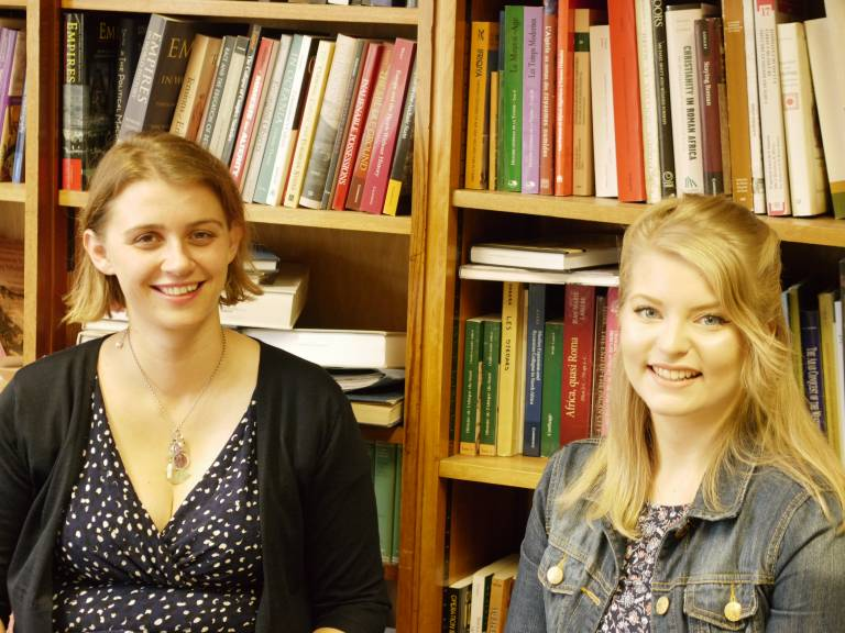Personal tutor Dr Corisande Fenwick and student Ros Christian
