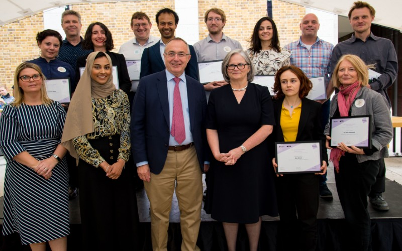 UCL President and Provost with 2019 Education Award winners