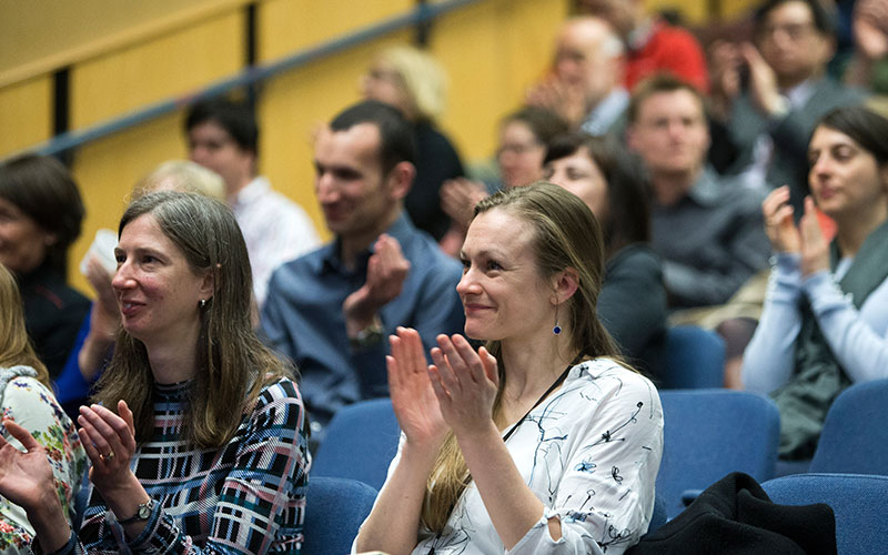 The audience clapping at the UCL Education Conference 2018
