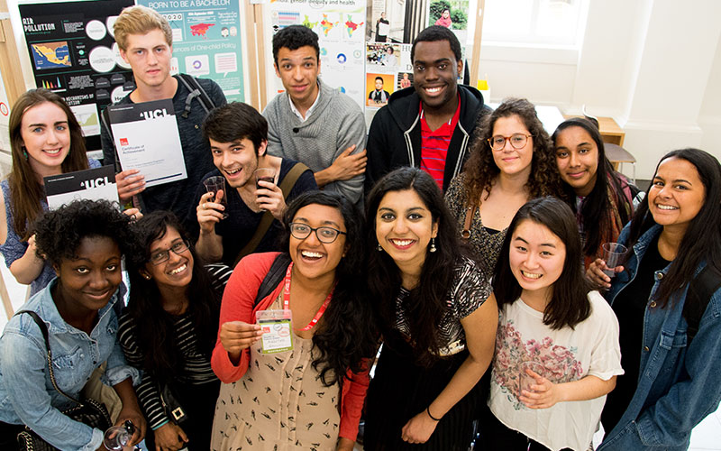 A group of UCL students who attended the Global Citizenship Programme
