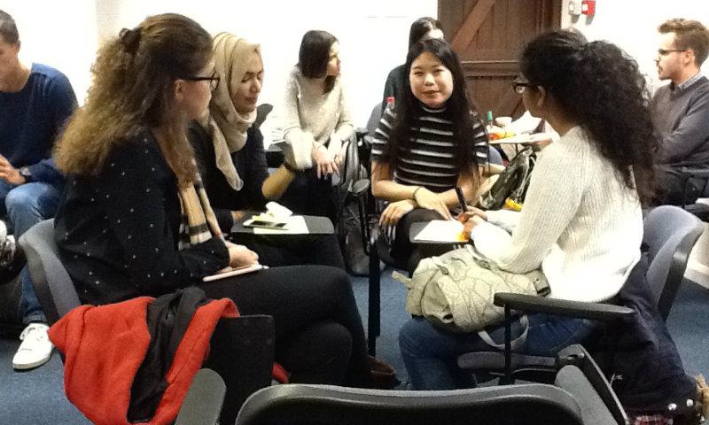 Students at IP workshop