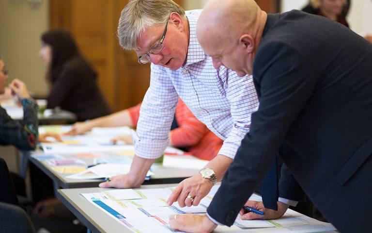 Participants design a programme in an ABC workshop