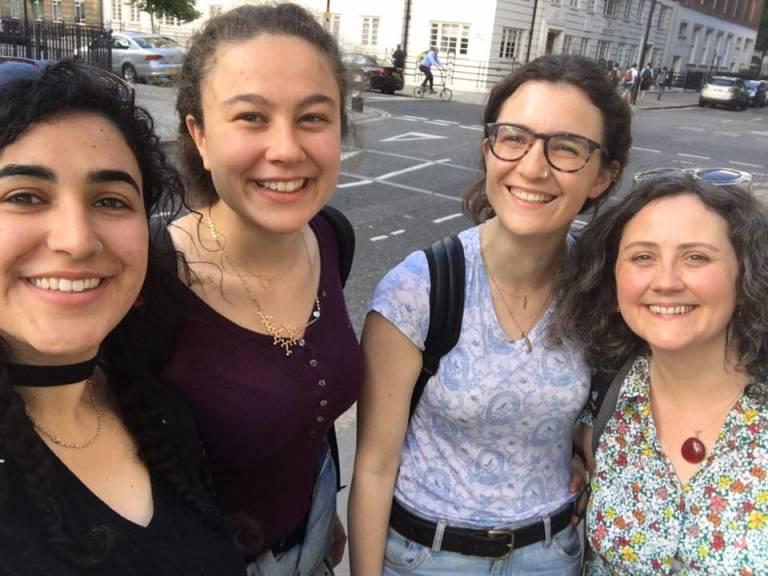 Laura, Sarai, Manya and Cathy