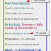 Screenshot of a Baseline aligned Contacts page