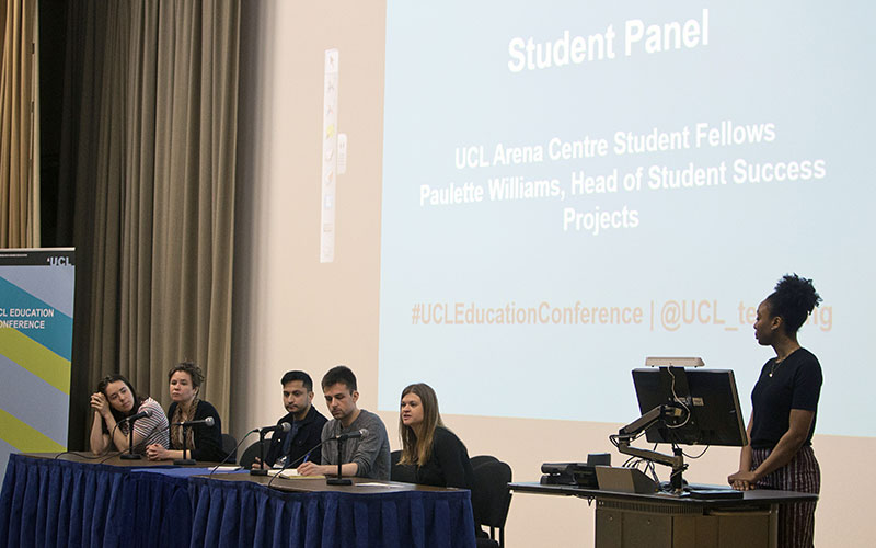 The student panel at the UCL Education Conference 2018