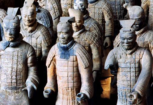 View of Pit 1 of the Terracotta Army. Photograph by Xia Juxian