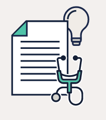 stethoscope and documents icon