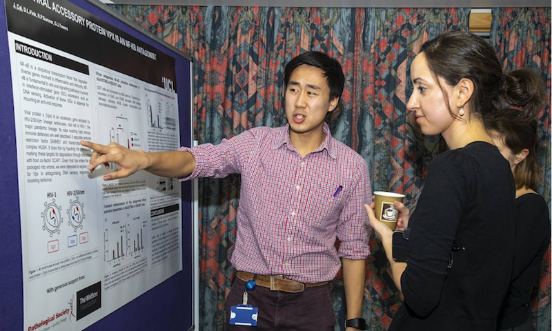 James Cai presents his winning poster at the 8th Dean's Research Prize Event, Feb 2020