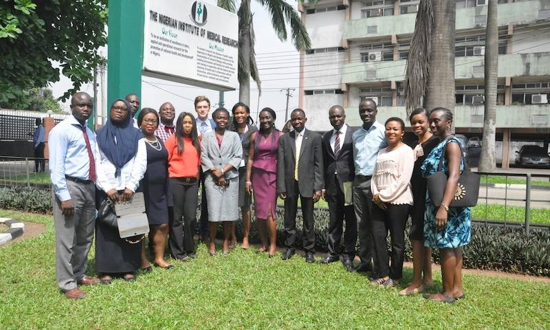 Dr Doug Fink and collaborators and colleagues at the Nigerian Institute of Medical Research