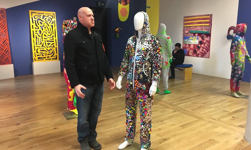 Dr Eran Bacharach visited John's CAPSID exhibition at 'Home' in Manchester