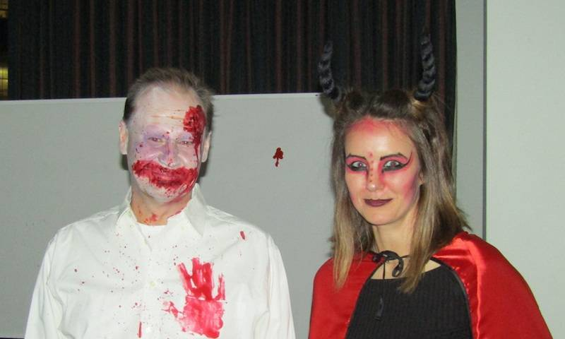 Gruesome Greg and Lucifer Lucy at the Towers Lab Halloween party 2017