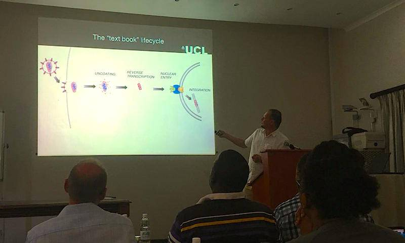 Prof Greg Towers presents at the 1st Max Planck Society Workshop on HIV Reservoirs and Evolution in St Lucia, South Africa