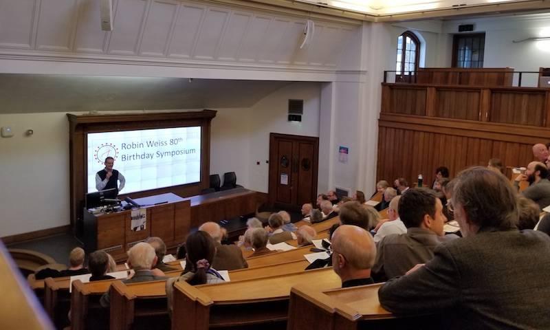 Prof Richard Milne hosts Robin Weiss' 80th Birthday Symposium, Feb 2020